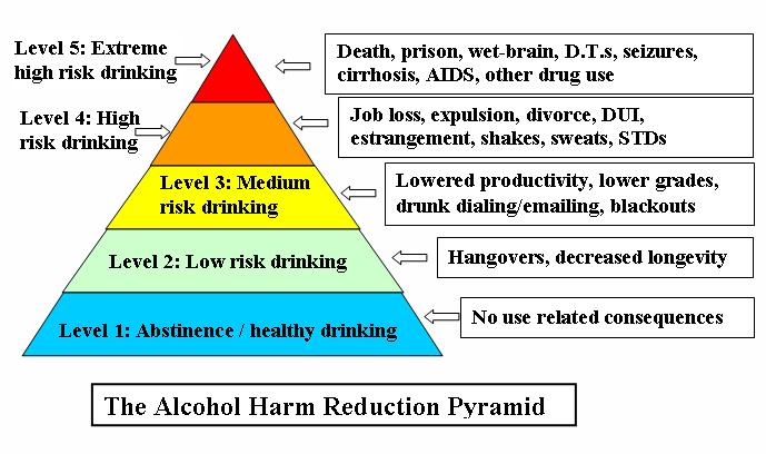 Alcohol Harm Reduction Pyramid